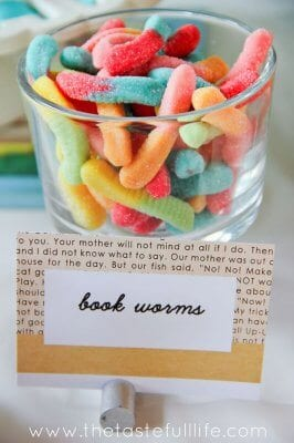 Book club snack idea - bookworms