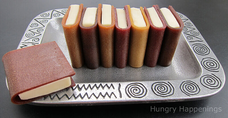 Book club snack idea with fruit leather